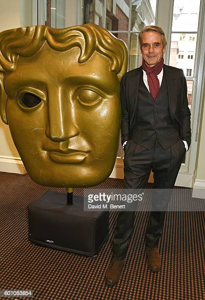 Jeremy Irons poses at his 'BAFTA A Life In Pictures' at BAFTA Piccadilly on September 9 2016 in London England