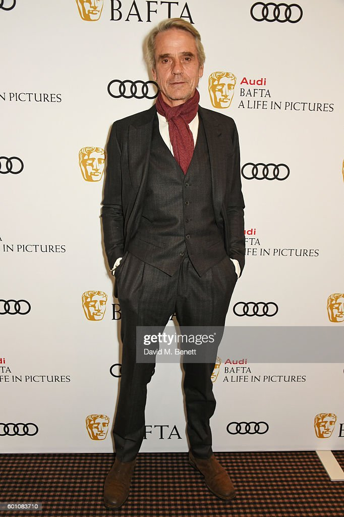 Jeremy Irons poses at his 'BAFTA: A Life In Pictures' at BAFTA Piccadilly on September 9, 2016 in London, England.