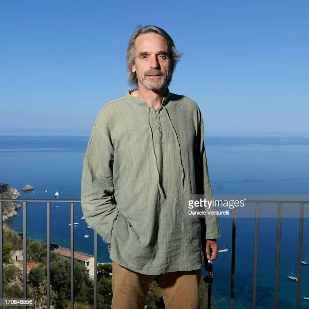 Jeremy Irons poses for a portrait session at Hotel Metropole on June 19 2013 in Taormina Italy