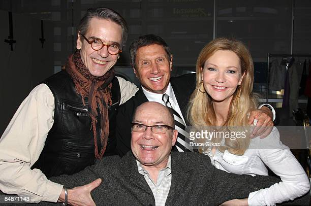 Jeremy Irons Producer Bill Haber Director Jack O'Brien and Joan Allen attend a meetandgreet for the Broadway show Impressionism at the New 42nd...