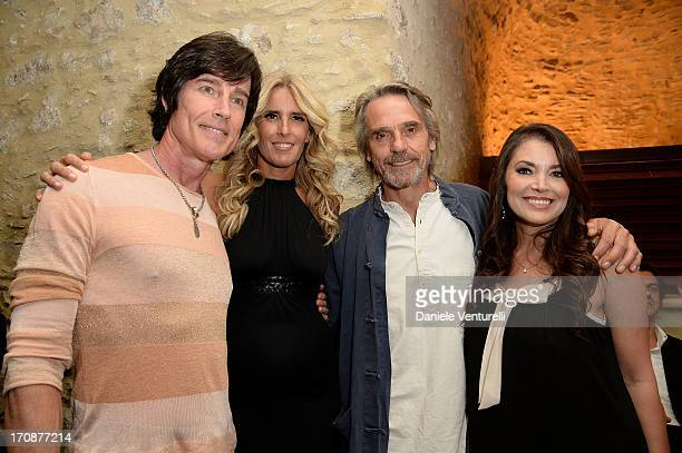 Jeremy Irons Tiziana Rocca Devin Devasquez and Ronn Moss attend 'Clifton Collection' Gala Dinner Hosted by Baume Mercier And Taormina Filmfest on...