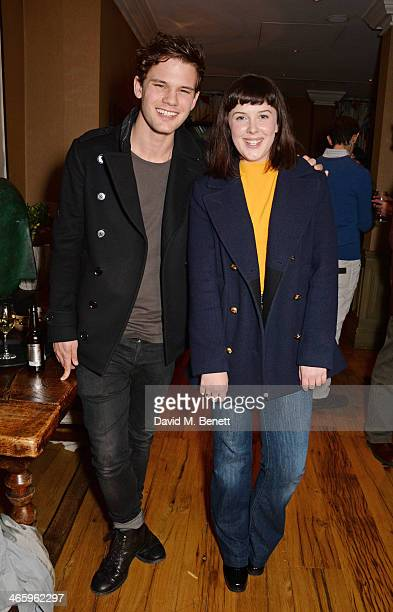 Jeremy Irvine and Alexandra Roach attend a drinks reception and private screening of BAFTA and Oscar nominated film 'Philomena' hosted by Harvey...