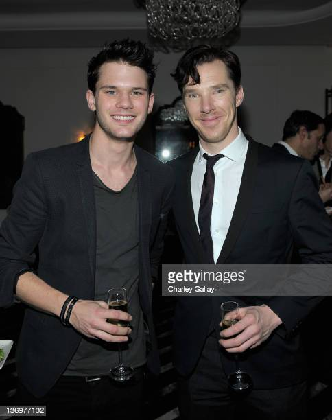 Jeremy Irvine and Benedict Cumberbatch attend Vanity Fair Fisker Automotive Toast Dreamworks Pictures Golden Globes Best Drama Nominations 'The Help'...