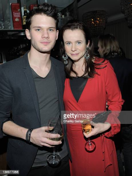Jeremy Irvine and Emily Watson attend Vanity Fair & Fisker Automotive Toast Dreamworks Pictures Golden Globes Best Drama Nominations 'The Help' And...