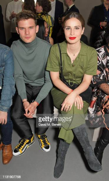 Jeremy Irvine and Heida Reed attend 'Hermes Step Into The Frame' at Nine Elms on March 21 2019 in London England