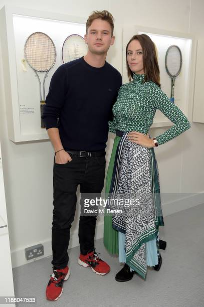 Jeremy Irvine and Kaya Scodelario attend the Lacoste VIP Lounge at the 2019 ATP World Tour Tennis Finals on November 16, 2019 in London, England.