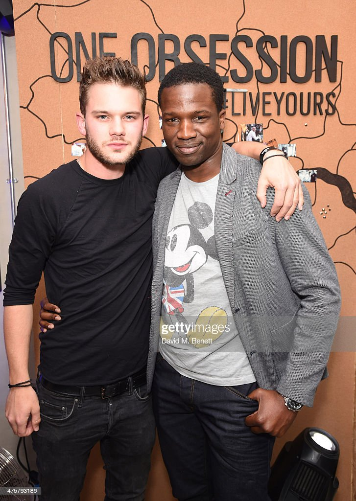 Jeremy Irvine (L) and Sope Dirisu attend the launch of