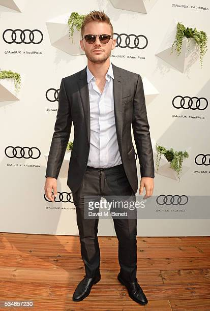 Jeremy Irvine attends day one of the Audi Polo Challenge at Coworth Park on May 28 2016 in London England