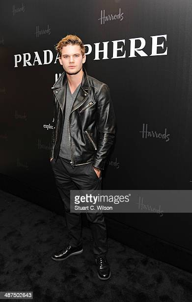 Jeremy Irvine attends PRADASPHERE at Harrods on April 30 2014 in London England