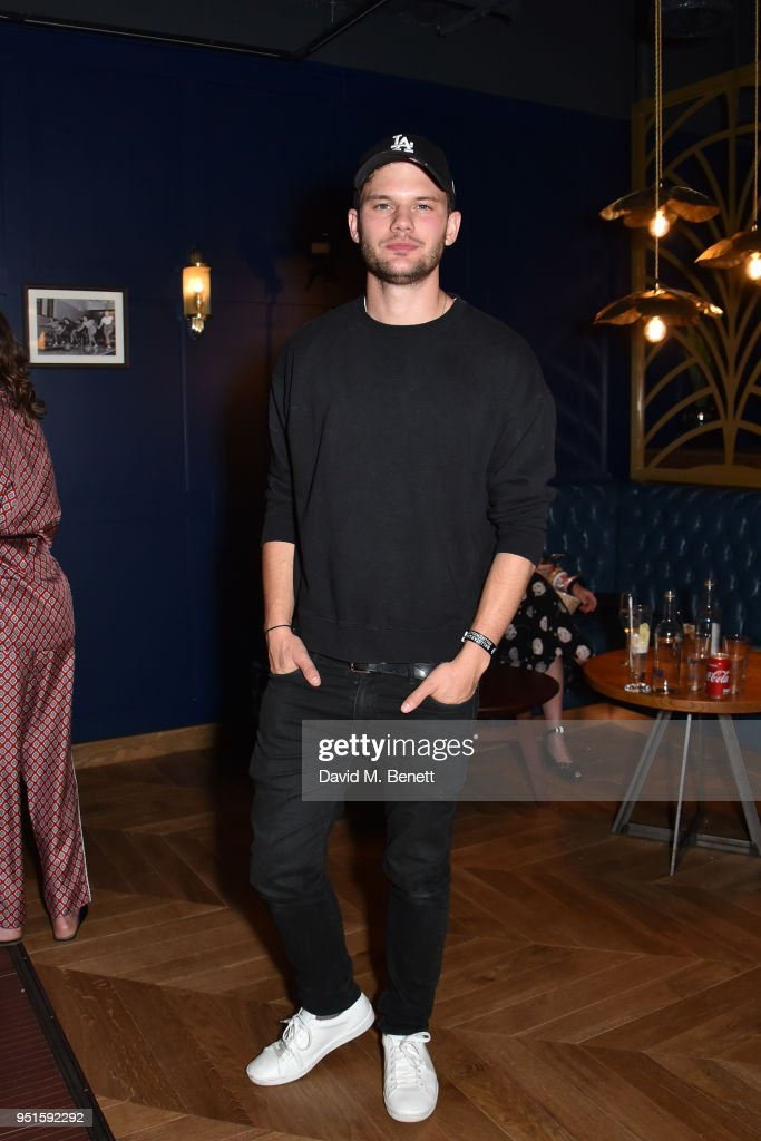 Jeremy Irvine attends the All Star Lanes Westfield London launch party on April 26, 2018 in London, England.