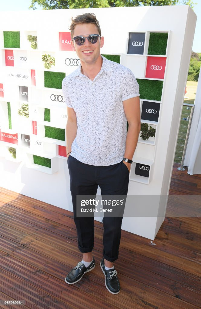 Jeremy Irvine attends the Audi Polo Challenge at Coworth Park Polo Club on June 30, 2018 in Ascot, England.
