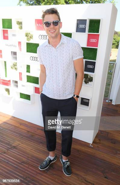 Jeremy Irvine attends the Audi Polo Challenge at Coworth Park Polo Club on June 30 2018 in Ascot England