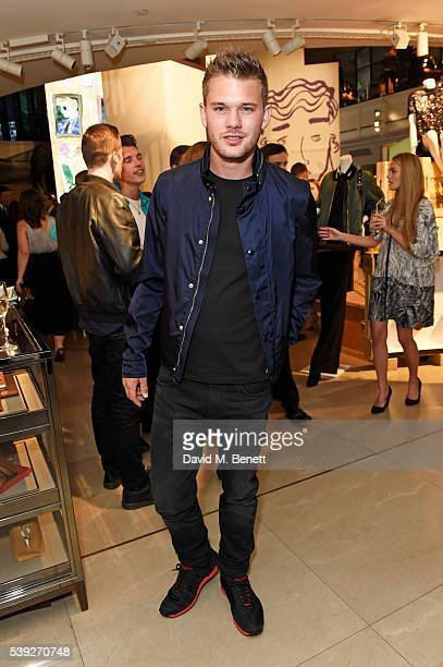 Jeremy Irvine attends the Burberry LCM event at 121 Regent Street hosted by Christopher Bailey Burberry Chief Creative and Chief Executive Officer on...