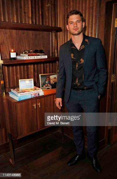 Jeremy Irvine attends the celebration of the new Oliver Peoples Soho boutique and the launch of their collaboration with the Cary Grant estate on...