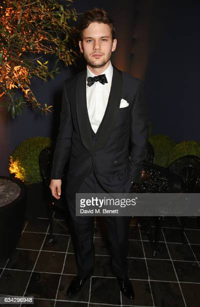 Jeremy Irvine attends the dunhill and Dylan Jones preBAFTA dinner and cocktail reception celebrating Gentlemen in Film at Bourdon House on February 8...