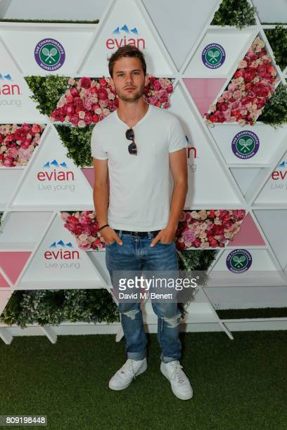 Jeremy Irvine attends the evian Live Young suite during Wimbledon 2017 on July 5 2017 in London England