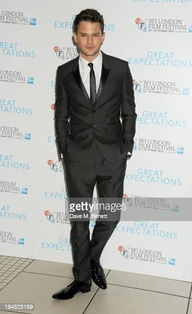 Jeremy Irvine attends the Gala Premiere of 'Great Expectations' which closes the 56th BFI London Film Festival at Odeon Leicester Square on October...