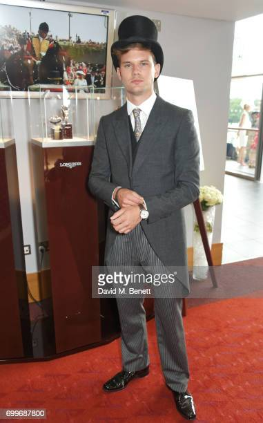 Jeremy Irvine attends the Longines suite in the Royal Enclosure during Royal Ascot on June 22 2017 in Ascot England