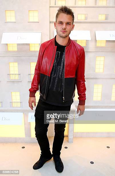 Jeremy Irvine attends the opening of the House Of Dior on New Bond Street on June 8 2016 in London England