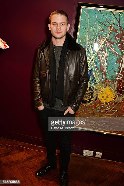 Jeremy Irvine attends the press night after party for The Donmar's production of 'Welcome Home Captain Fox' at The Hospital Club on March 1 2016 in...