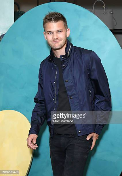 Jeremy Irvine attends the private Burberry event during The London Collections Men SS17 at Burberry on June 10 2016 in London England