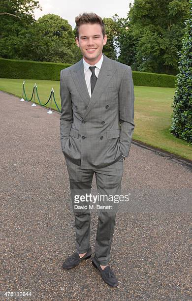 Jeremy Irvine attends The Ralph Lauren Vogue Wimbledon Summer Cocktail Party hosted by Alexandra Shulman and Boris Becker at The Orangery at...