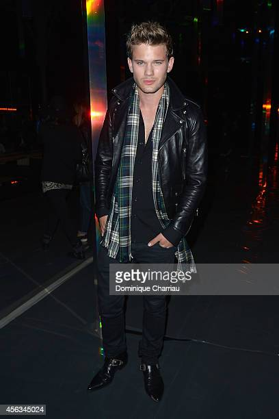 Jeremy Irvine attends the Saint Laurent show as part of the Paris Fashion Week Womenswear Spring/Summer 2015 on September 29 2014 in Paris France