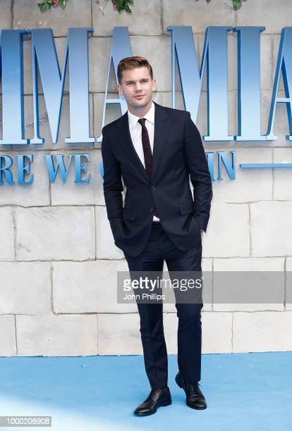Jeremy Irvine attends the UK Premiere of Mamma Mia Here We Go Again at Eventim Apollo on July 16 2018 in London England