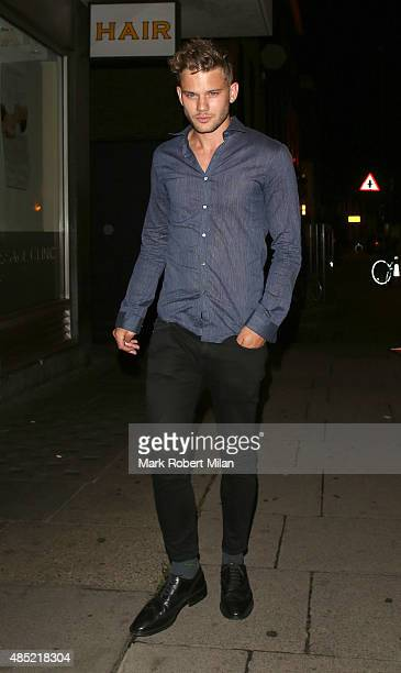 Jeremy Irvine is seen at the Chiltern Firehouse on August 25 2015 in London England