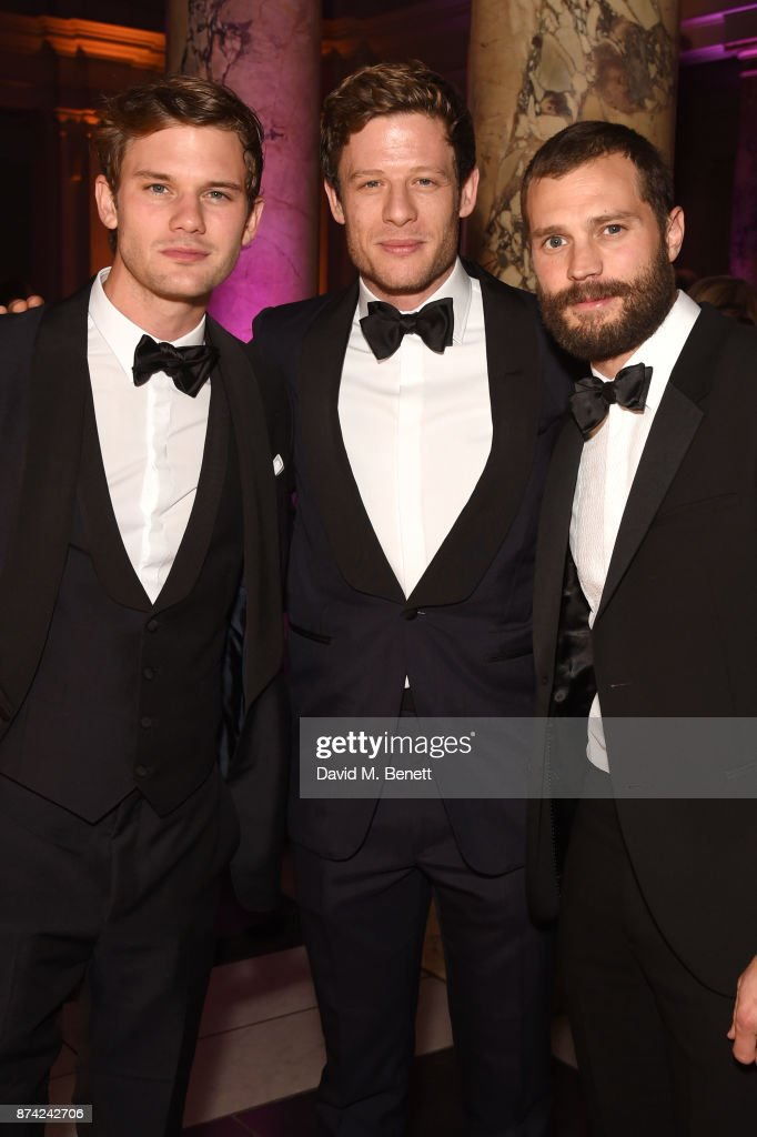 Jeremy Irvine, James Norton, and Jamie Dornan attend The Sugarplum Dinner 2017 in aid of type 1 diabetes charity JDRF at The V&A on November 14, 2017 in London, England.