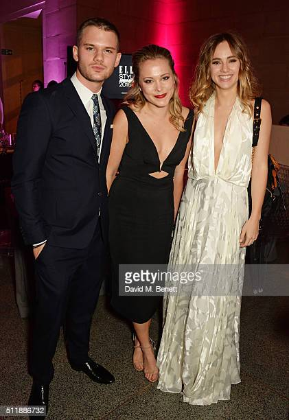 Jeremy Irvine Poppy Jamie and Suki Waterhouse attend The Elle Style Awards 2016 after party on February 23 2016 in London England
