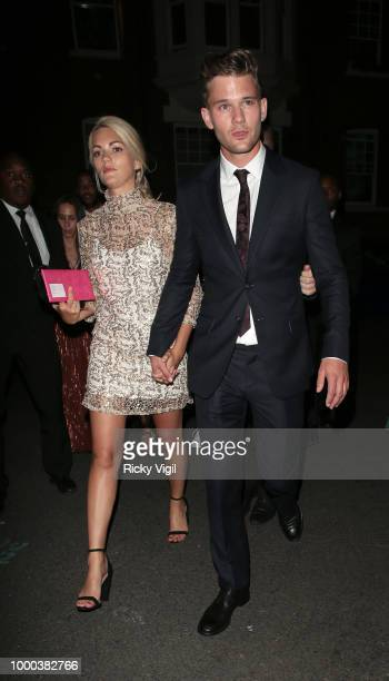 Jeremy Irvine seen attending Mamma Mia Here We Go Again UK film premiere afterparty at Hammersmith Apollo on July 16 2018 in London England
