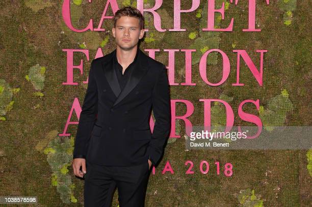 Jeremy Irvine, wearing Stella Mccartney, attends The Green Carpet Fashion Awards Italia 2018 at Teatro Alla Scala on September 23, 2018 in Milan,...