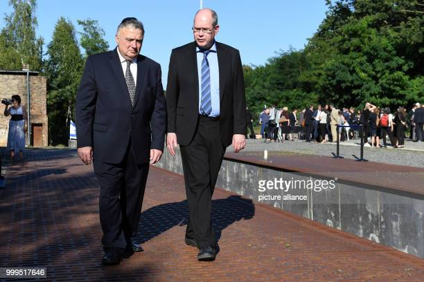 Jeremy Issacharoff , new Israeli ambassador and Johannes Tuchel, director of the memorial platform 7 in Berlin-Grunewald, Germany, 29 August 2017....