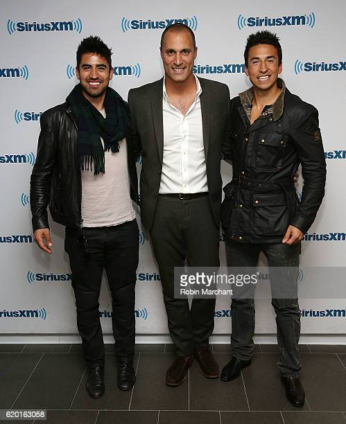 Jeremy Jauncey Nigel Barker and Tom Jauncey visit at SiriusXM Studio on November 1 2016 in New York City