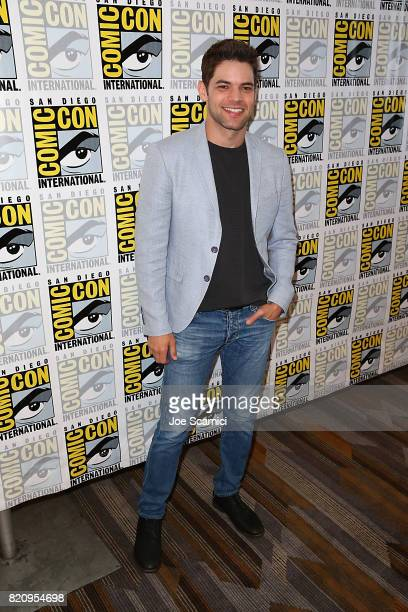 Jeremy Jordan arrives at the Supergirl press line at ComicCon International 2017 on July 22 2017 in San Diego California