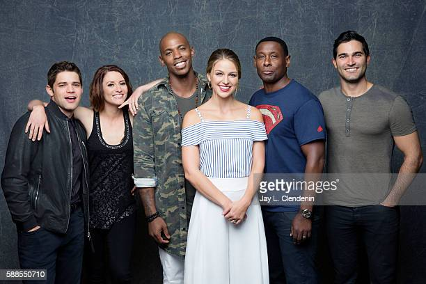 Jeremy Jordan Chyler Leigh Mehcad Brooks Melissa Benoist David Harwood Sarah Schechter and Tyler Hoechlin of 'Supergirl' are photographed for Los...