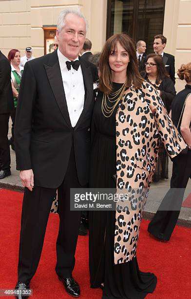 Jeremy King and Lauren Gurvich attend The Olivier Awards at The Royal Opera House on April 12, 2015 in London, England.