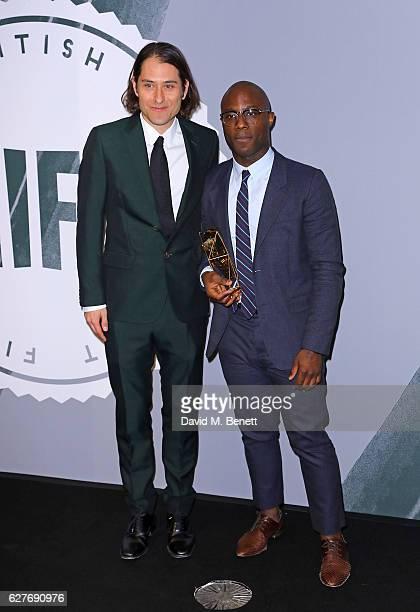 Jeremy Kleiner and Barry Jenkins pose at The British Independent Film Awards Old Billingsgate Market on December 4 2016 in London England