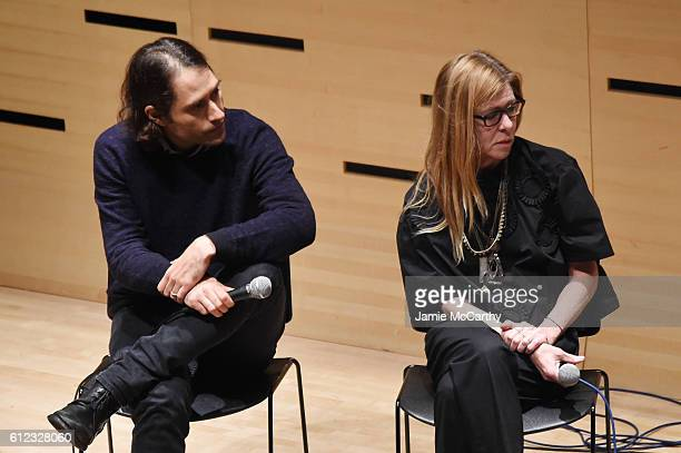Jeremy Kleiner and Dede Gardner speak onstage at the NYFF Live Making Moonlight event during the 54th New York Film Festival at Film Center...