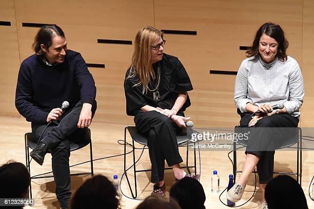 Jeremy Kleiner Dede Gardner and Adele Romanski speak onstage at the NYFF Live Making Moonlight event during the 54th New York Film Festival at Film...