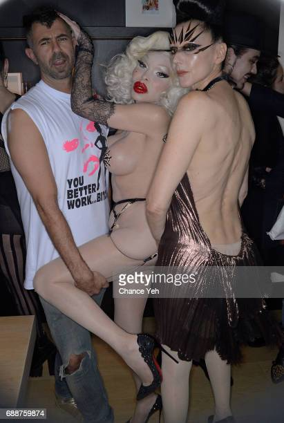 Jeremy Kost Amanda Lepore and Susanne Bartsch attend 'Like One Of Your French Girls' book signing release party at The New York Edition Hotel on May...