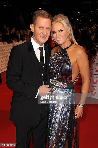 Jeremy Kyle and Carla Germaine attend the National Television Awards at 02 Arena on January 21 2015 in London England