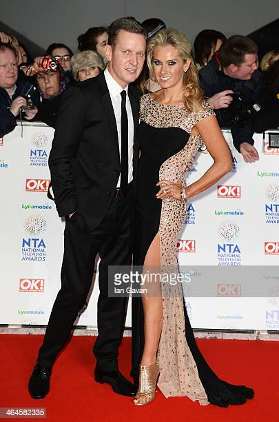 Jeremy Kyle and Carla Germaine attend the National Television Awards at 02 Arena on January 22 2014 in London England