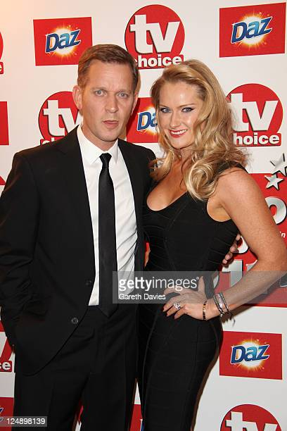 Jeremy Kyle and Carla Germaine attend the TV Choice awards at The Savoy Hotel on September 13 2011 in London England