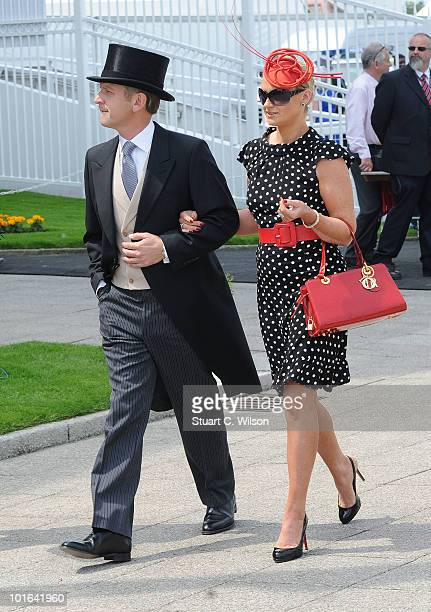 Jeremy Kyle and Carla Kyle attend Derby Day the second day of the Epsom Derby on June 5 2010 in Epsom England