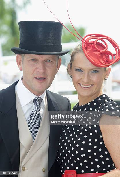 Jeremy Kyle and Carla Kyle attend the Investec Derby Day at Epsom Downs on June 5 2010 in Epsom England