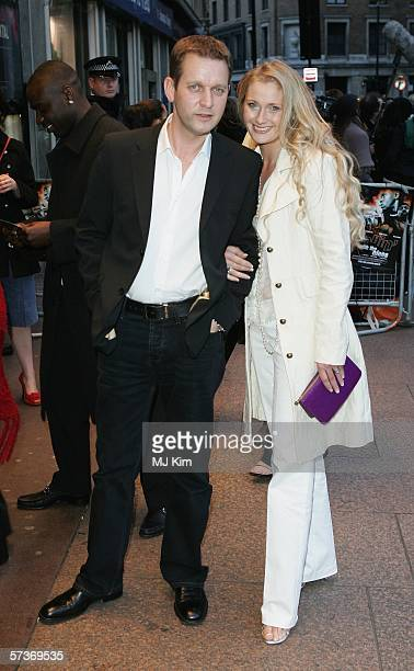 Jeremy Kyle and guest arrive at the UK Premiere of 'Rollin' With The Nines' at the Odeon Leicester Square on April 19 2006 in London England