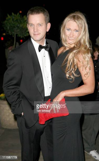 Jeremy Kyle and his girlfriend during Royal Television Society Programme Awards Outside Arrivals at Grosvenor House Hotel in London Great Britain
