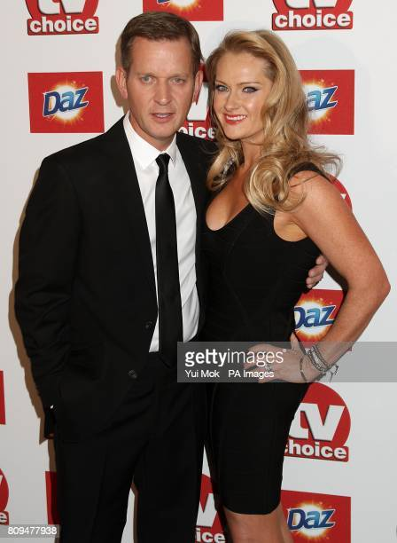 Jeremy Kyle and his wife Carla Germaine arriving for the 2011 TV Choice Awards at The Savoy Strand London